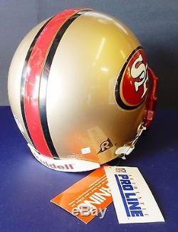 San Francisco 49ers authentic new helmet 1995 Riddell Large 7 1/4-7 3/4 vsr-4
