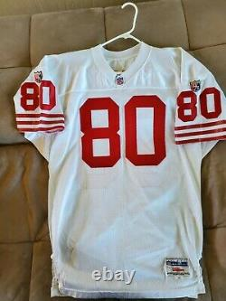 San Francisco 49ers jerry rice wilson jersey vintage throwback 48 authentic vtg