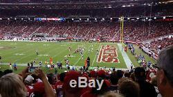 San Francisco 49ers vs Arizona Cardinals Section 133 (2 Tickets)