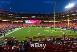 San Francisco 49ers vs Washington Redskins (2) LOWER LEVEL Tickets