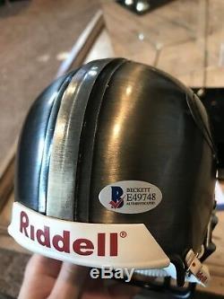 Steve Young Autographed/Signed Pewter Mini Helmet COA San Francisco 49ers Metal