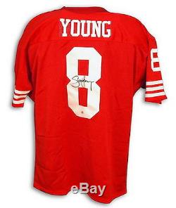 Steve Young Autographed Throwback Jersey San Francisco 49ers