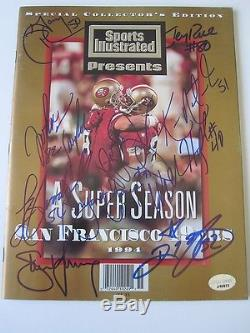 Steve Young Jerry Rice signed Sports Illustrated autographed 49ers PSA J45973 +8