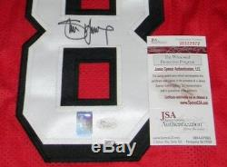 Steve Young Signed Autographed San Francisco 49ers #8 Stat Jersey Jsa + Holo