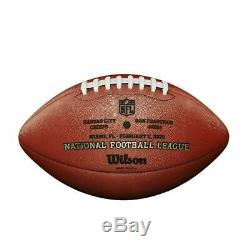 Super Bowl LIV (54) Wilson Official Leather Authentic Football Chiefs 49ers