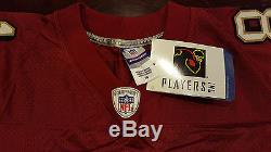 Terrell Owens #81 Authentic Reebok San Francisco 49ers Red Jersey Mens Size 50