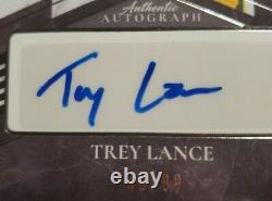 TREY LANCE 2021 Leaf Ultimate Draft AUTO Autograph Rookie SILVER #'D 99/99