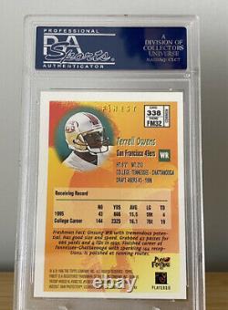Terrell Owens 1996 Topps Finest Rookie #338 PSA 10 GEM MT San Francisco 49ers