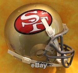 Throwback San Francisco 49ers Custom Football helmet Schutt Air med. Jerry Rice