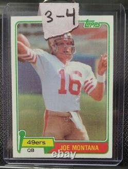 Topps 1981 Joe Montana Rookie Card #216 San Francisco 49ers RC Football (3-4)
