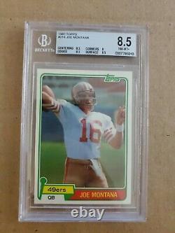 Topps 1981 Joe Montana Rookie RC BGS 8.5 Near Mint PSA