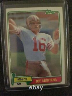 Topps 1981 Joe Montana San Francisco 49ers RC #216 Football Card