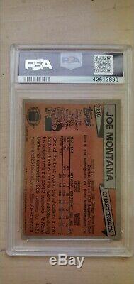 Topps 1981 Joe Montana San Francisco 49ers RC #216 Football Card PSA MINT 9