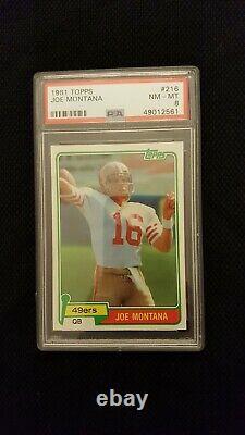 Topps 1981 Joe Montana San Francisco 49ers Rookie RC #216 PSA 8