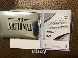 Trey Lance 3/25 RC The National 2021 Exclusive Panini Silver Pack Auto 49ers