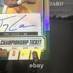 Trey Lance On-Card Auto 03/10 Bowl Championship Ticket 2021 Contenders Draft