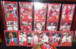Ud Master Collection Joe Montana 16 Set #d/250 + Auto Signed 49ers Mini Helmet