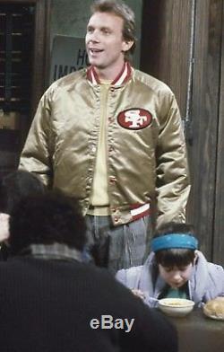 VINTAGE NFL SAN FRANCISCO FORTY NINERS 49ers CHALKLINE SATIN JACKET 3XL starter