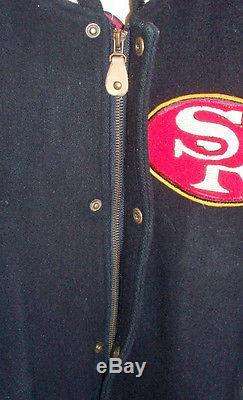 VINTAGE SAN FRANCISCO 49ers SUPER BOWL CHAMPIONS LETTERMEN's THROWBACK JACKET