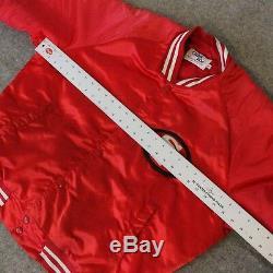 VTG Chalk Line Red Jacket SanFrancisco 49ers Forty Niners Team USA Mens XL Satin