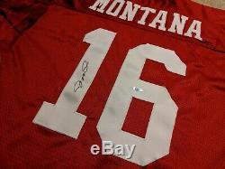 VTG Joe Montana NFL Authentic Wilson Proline 49ers Jersey, Signed UDA size 48