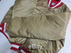 VTG San Francisco 49ers FORTY NINERS Chalkline Gold Jacket XL Rare Montana P2262