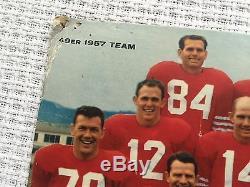Vintage 1958 Falstaff Beer San Francisco 49ers Cardboard Schedule Poster NFL