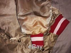 Vintage 1980's Pro line Starter San Francisco 49ers Men's Satin Jacket, sz XXL