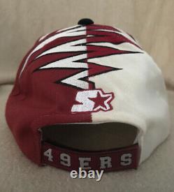 Vintage 1990s SAN FRANCISCO 49ERS Hat Shockwave Starter Adjustable NFL Pro Line