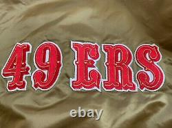 Vintage 80s San Francisco 49ers Satin Jacket by Starter Size XL Gold Niners NWOT