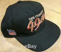 Vintage 90's Sports Specialties San Francisco 49ers Script Snapback Hat Cap