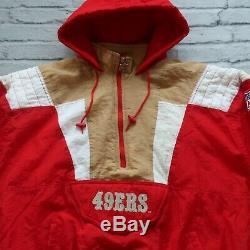 Vintage 90s San Francisco 49ers Pullover Parka Jacket by Starter Size XL
