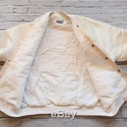 Vintage 90s San Francisco 49ers Satin Jacket by Chalk Line Size L Made in USA