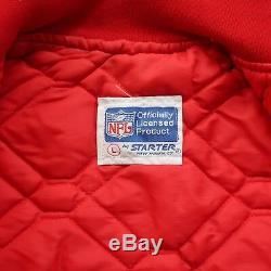 Vintage 90s San Francisco 49ers Satin Jacket by Starter Size L
