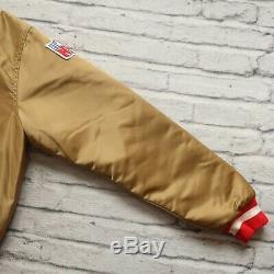 Vintage 90s San Francisco 49ers Satin Jacket by Starter Size L Niners 9ers