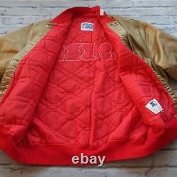 Vintage 90s San Francisco 49ers Satin Jacket by Starter Size XXL Gold Niners