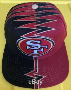 Vintage 90s San Francisco 49ers Starter Darkside DS Shockwave Slasher Hat Cap