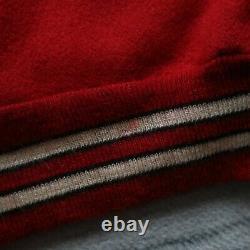 Vintage 90s San Francisco 49ers Super Bowl Leather Wool Varsity Jacket 50 Delong