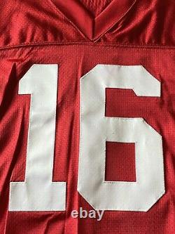 Vintage Authentic Wilson Joe Montana San Francisco 49ers Game Cut NFL Jersey 38