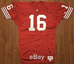 Vintage Authentic Wilson Joe Montana San Francisco 49ers Game Cut NFL Jersey 48