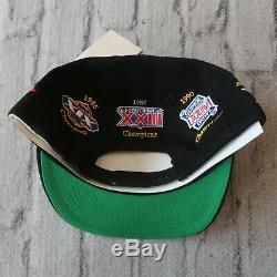 Vintage NEW 90s San Francisco 49ers Superbowl Snapback Hat by Annco Cap