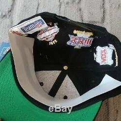 Vintage NEW 90s San Francisco 49ers Superbowl Snapback Hat by Annco Cap