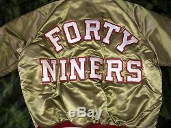 Vintage NFL Chalk Line Satin Jacket San Francisco 49ers sz XL, NWT, Starter