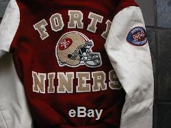 Vintage NFL L S. F. 49ers Chalk Line Jacket Nice Wool Patches