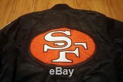 Vintage NFL San Francisco 49ers STARTER Satin Jacket Niners Black Size L Large