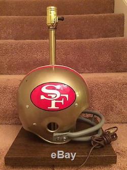 Vintage Old Riddell Kra-Lite Football Helmet Lamp -1971 San Francisco 49ers