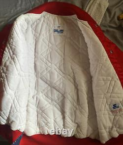 Vintage RARE 90s San Francisco 49ers Satin Jacket by Starter Size XL, Red