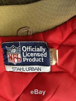 Vintage RARE San Francisco 49ers Stahl Urban satin jacket gold Sz XXL