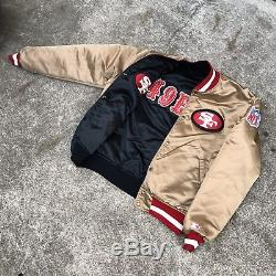 Vintage Rare 80's 90's SAN FRANCISCO SF 49ers REVERSIBLE STARTER Jacket Size XL