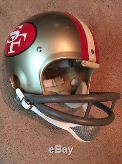 Vintage Riddell Kra-Lite Old Football Helmet- 1972 San Francisco 49ers